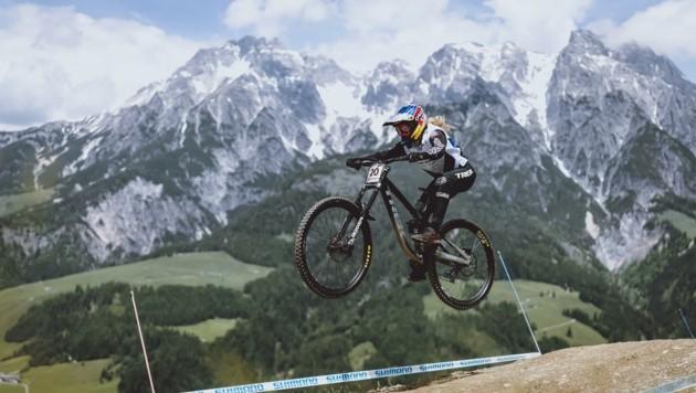 Valentina Höll beim Heim-Weltcup in Leogang. (Bild: EXPA)