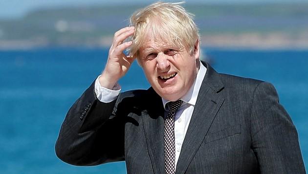 Während des G7-Gipfels in Cornwall ereilen Gastgeber Boris Johnson täglich immer besorgniserregendere Nachrichten von der Corona-Front. (Bild: APA/AFP/POOL/PETER NICHOLLS)