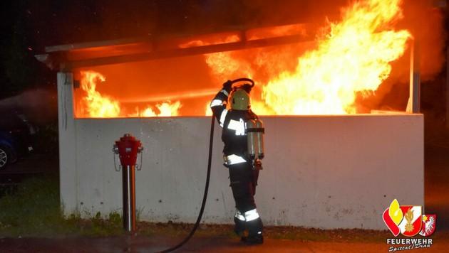 Der Brand konnte gelöscht werden. (Bild: Feuerwehr Spittal an der Drau)