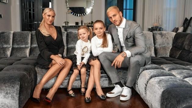 Marko Arnautovic mit seiner Familie (Bild: zVg)