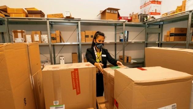 Die Paketabfertigungen haben sich in den vergangenen zwei Jahren verdoppelt. (Bild: Markus Tschepp)