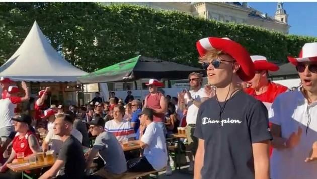 Public Viewing am Neuen Platz in Klagenfurt (Bild: Christian Tragner)