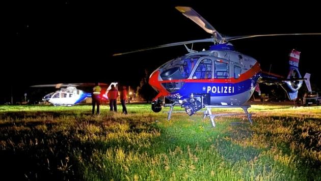 In einer aufwendigen Rettungsaktion wurde der 49-Jährige in der Nacht auf Montag mit einem Rettungshubschrauber geborgen und ins Tal gebracht. (Bild: LPD Salzburg)
