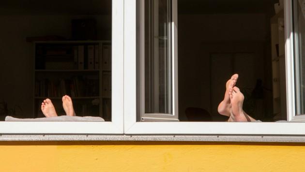 Statt einer Urlaubsreise blieb vielen Menschen in der Pandemie nur die Fensterbank. (Bild: APA/dpa/Peter Kneffel)