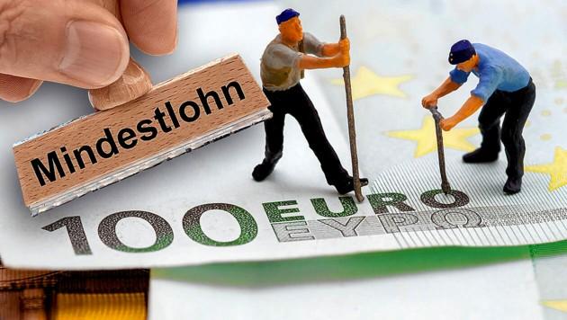 Die EU-Kommission will einen europäischen Mindestlohn einführen. (Bild: stock.adobe.com, Krone KREATIV)