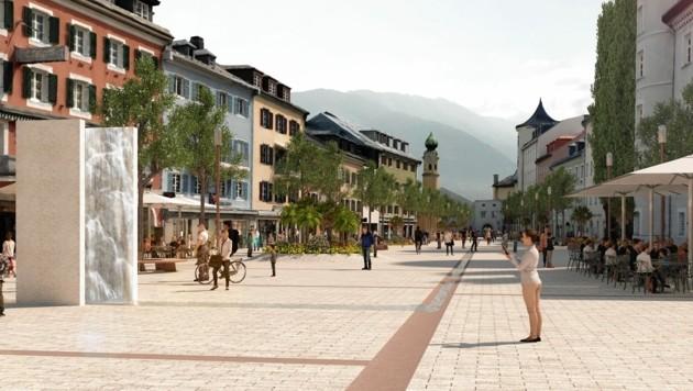So könnte der Hauptplatz in Lienz aussehen. (Bild: Stadt Lienz/Aberjung)