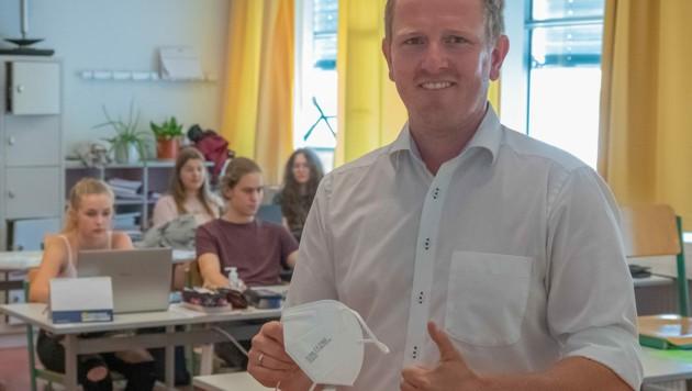 Klaus Weixlbaumer unterrichtet BWL an der HLW Kirchdorf - und ist froh über das Ende der Maskenpflicht in der Klasse! (Bild: © Copyright 2021 Jack Haijes)