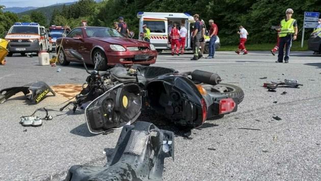 Die Unfallstelle (Bild: Daniel Liebl)