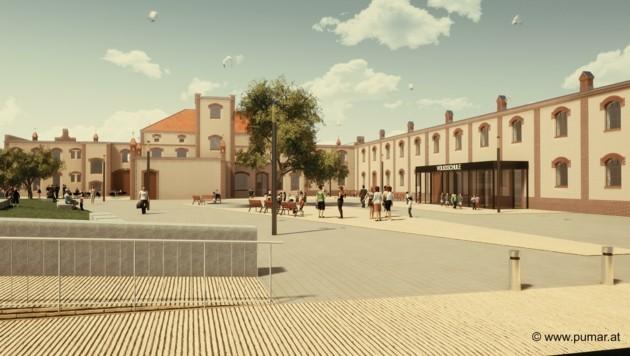 So soll das neue Bruckneudorfer Zentrum dann aussehen (Bild: Pesendorfer I Machalek I Dolmanits Architekten)