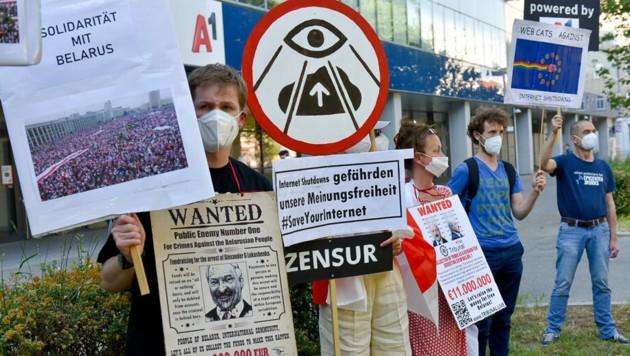 Netzaktivisten werfen dem A1-Konzern vor, Websites der Opposition gesperrt zu haben. (Bild: epicenter.works/Rizar.photo)
