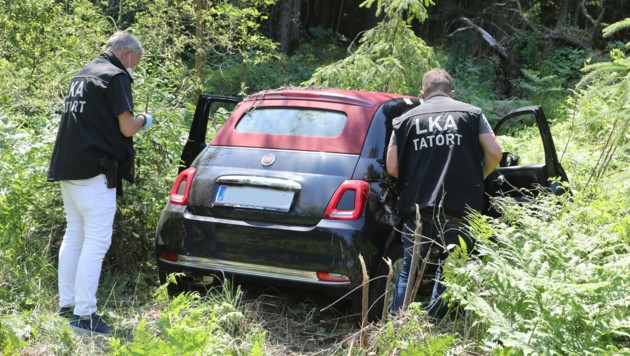Das Fluchtauto konnte dank der Auskunft eines ÖBB-Bediensteten gefunden werden. (Bild: Uta Rojsek-Wiedergut)