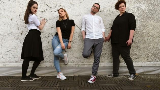 """""""Das Schauwerk"""", das sind (von li.) Stefanie Altenhofer, Sarah Baum, Stefan Parzer, Anja Baum. (Bild: Raphaela Danner)"""