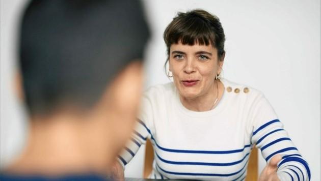 Nicole Harmath ist Sozialpädagogin im Integrationshaus (Bild: Lukas Beck)