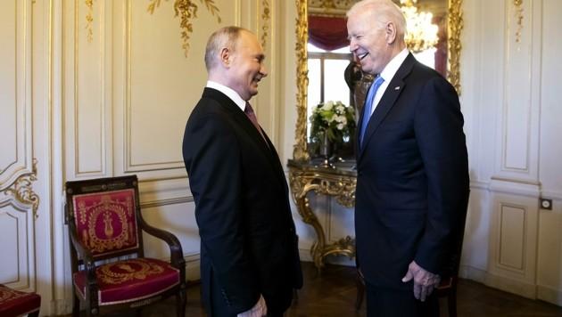 Wer spielte seine Rolle besser in Genf: Wladimir oder Joe? (Bild: Peter Klaunzer)