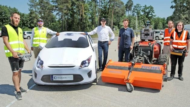 Ob Spezialfahrzeuge oder Pkw: Bei den Tests in Sachen autonomen Fahrens überlassen die Spezialisten in St. Valentin nichts dem Zufall. (Bild: Crepaz Franz)