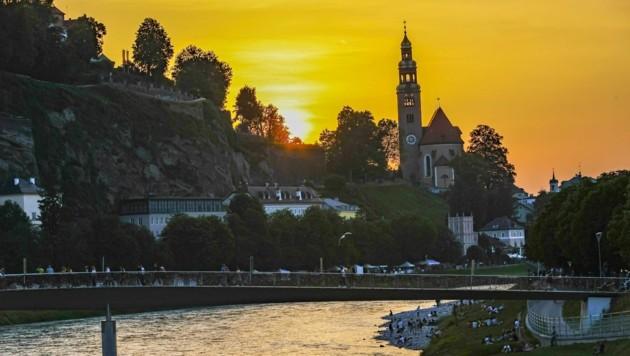 Sonnenuntergang am Müllner Hügel (Bild: Tschepp Markus)