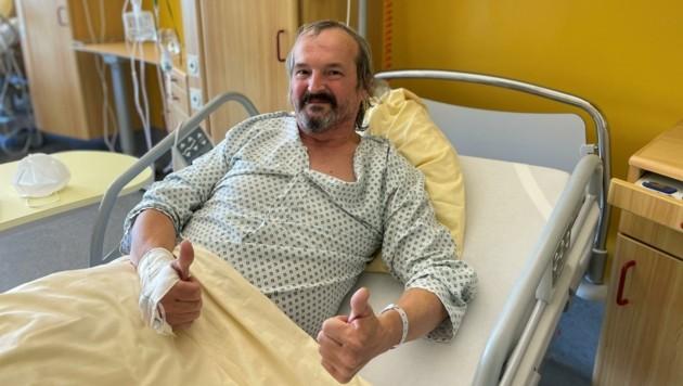 Bedankt sich für die gute Betreuung in Tulln: Corona-Patient Gerhard Lederer. (Bild: UK Tulln)