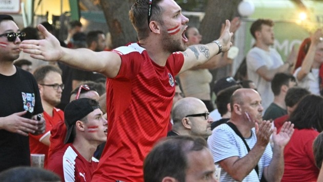Fußball kann eine sehr emotionale Angelegenheit werden. Aber Vorsicht: Im Public Viewing ist heuer nicht alles erlaubt. (Bild: HANS PUNZ)