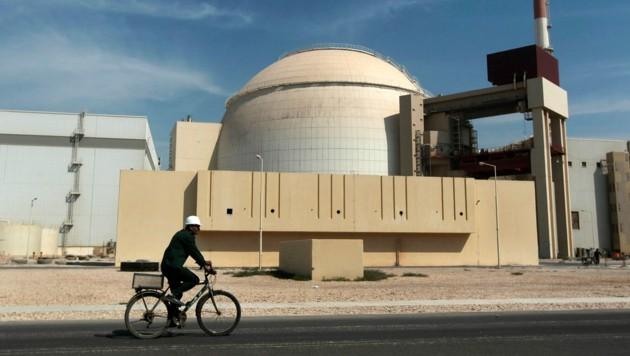 Das Reaktorgebäude des Atomkraftwerks Bushehr (Bild: AP Photo/Mehr News Agency, Majid Asgaripour, File)