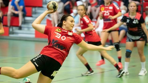 """Die U18-SSV-Handballerinnen verloren im Halbfinale gegen Fünfhaus, konnten aber das """"kleine Finale"""" gegen Bruck/Trofaiach für sich entscheiden. (Bild: Maurice Shourot)"""