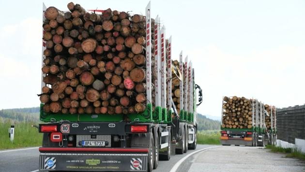Eine Lösung für den Holztransit im Waldviertel wird gesucht. (Bild: Huber Patrick)