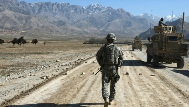 Ein US-Soldat auf Patrouille in Afghanistan (Bild: AFP)