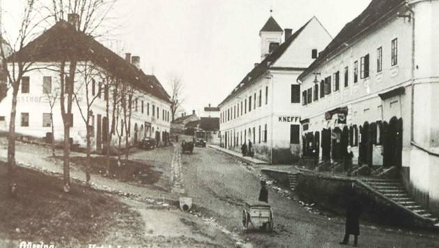 Die Schautafeln sind mit alten Fotos der Dörfer gestaltet. (Bild: Repro: Judt Reinhard)