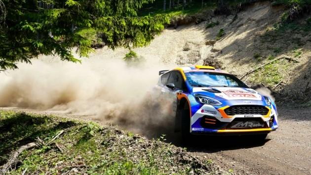 Hermann Neubauer bei der Rallye in Rohr im Gebirge. (Bild: SEPA.Media   Markus Tobisch)
