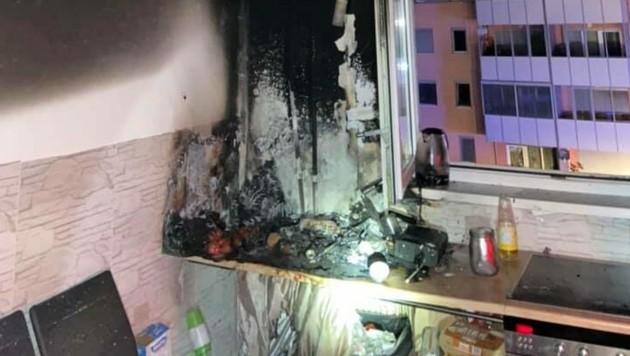 Ursache für den Brand waren angezündete Kerzen. (Bild: Berufsfeuerwehr Klagenfurt)