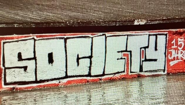 Diesen Schriftzug vom Fußballfanklub des GAK hinterließen die Sprayer auf einem Bootssteg der Promenade 1. (Bild: Schulter Christian)