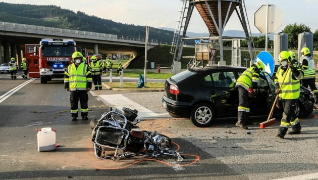 Verkehrsunfall in Kobenz (Bild: Thomas Zeiler)
