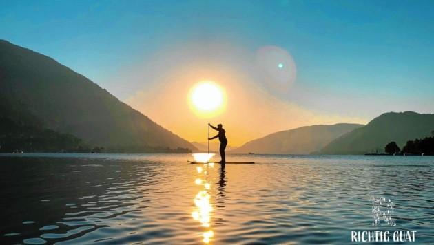 Paddeln in den Sonnenaufgang und danach gibt's ein stärkendes und gesundes Frühstück. (Bild: richtigguat)