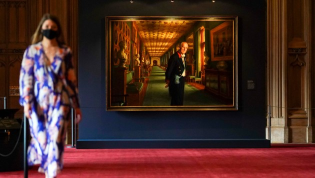 """Die Schau namens """"Prince Philip: A Celebration"""" ist bis 20. September für Besucher des königlichen Schlosses Windsor nahe London zu sehen. (Bild: APA/Steve Parsons/PA via AP)"""