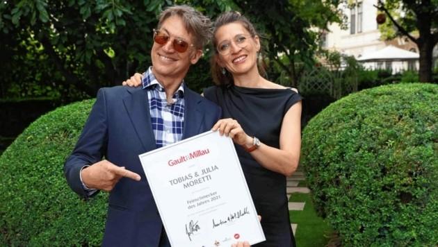 Feinschmecker des Jahres: Tobias Moretti und seine Ehefrau Julia freuten sich sehr. (Bild: Starpix/ Alexander TUMA)