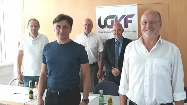 UGFV-Vorstand: August Gruber, Christian Schaberl, Reinhard Deutsch, Andreas Schweitzer und Wolfgang Kovacs (v. li.). (Bild: Christoph Miehl)