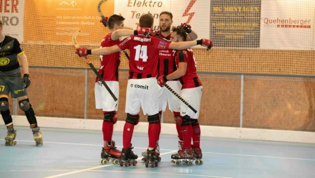 Der RHC Wolfurt siegte im ersten Finalspiel der österreichischen Meisterschaft mit 7:6 gegen den RHC Dornbirn. (Bild: Maurice Shourot)