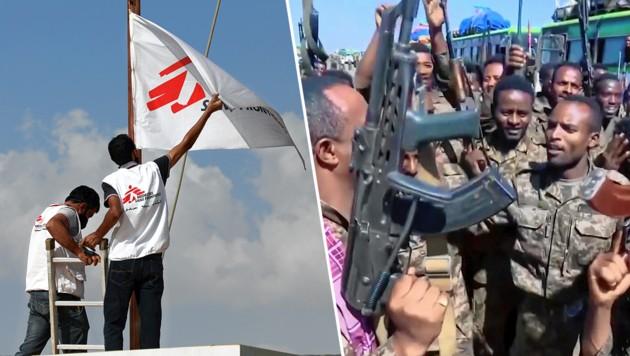 (Bild: AP, MSF/Mohammed Sanabani, Krone KREATIV)