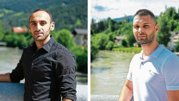 Die beiden Kellner Mouaz Oun (23, links) und Roland Pavel (30) retteten dem Kind das Leben (Bild: Daniel Scharinger)