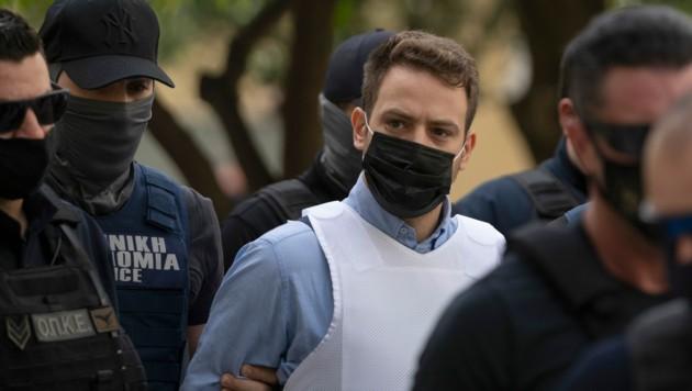 Charalambos Anagnostopoulos (33) soll seine Ehefrau ermordet haben - danach täuschte er einen Raubüberfall vor. (Bild: Associated Press)