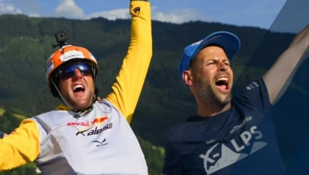 Siegerjubel in Zell am See. (Bild: Red Bull/X-Alps)