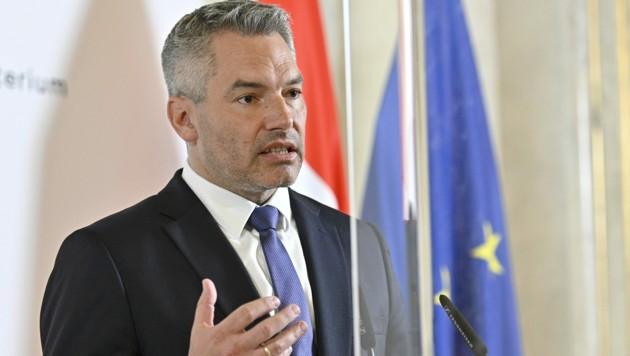 Innenminister Karl Nehammer (ÖVP) (Bild: APA/Hans Punz)