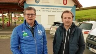 St. Anna-Boss Johannes Weidinger und Trainer Tomislav Kocijan freuen sich auf ein Cup-Heimspiel gegen den GAK. (Bild: Sepp Pail)