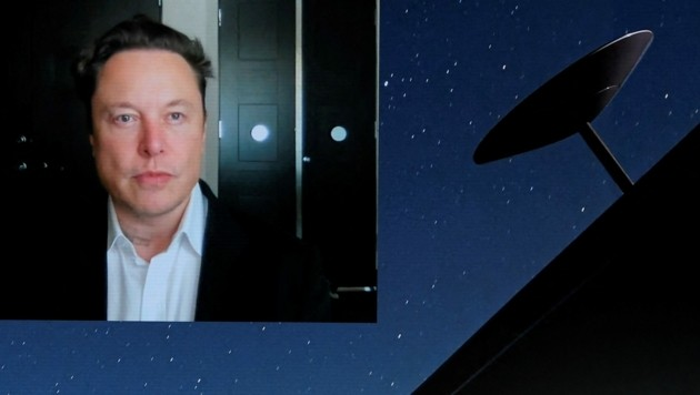 Elon Musk bei seiner Keynote-Videorede am MWC 2021 (Bild: AFP)