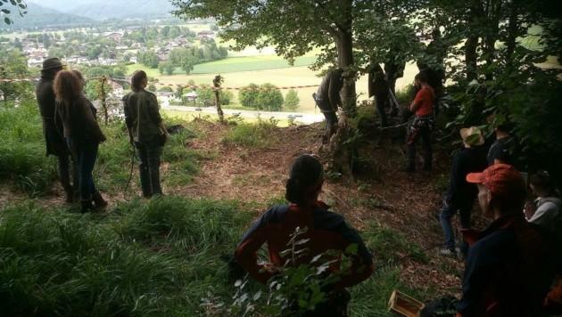 Das Team bei den Dreharbeiten (Bild: Bergrettung Salzburg)