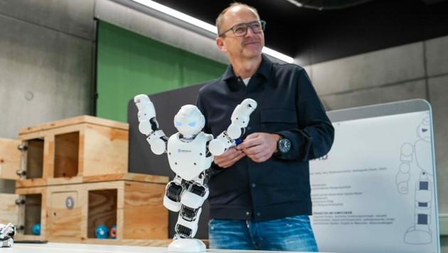 Andreas Fill trifft mit der firmeneigenen Wissensfabrik ins Schwarze. (Bild: Markus Wenzel)