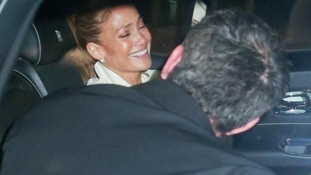 Jennifer Lopez und Ben Affleck haben bei ihrem Date viel Spaß. (Bild: www.photopress.at)