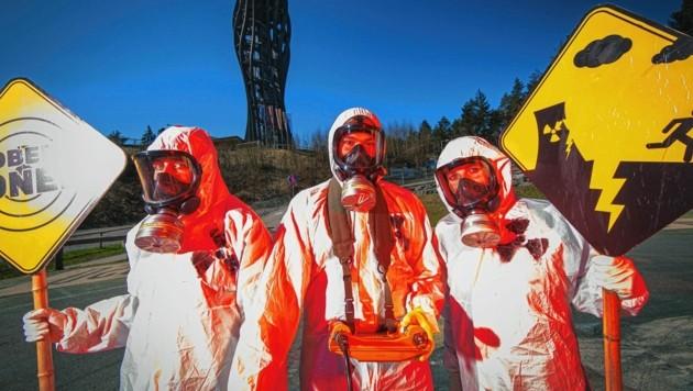 Umweltschützer warnen vor dem Hochrisiko-AKW, doch Slowenien hält an Krško fest (Bild: GLOBAL 2000 / Christopher Glanzl)