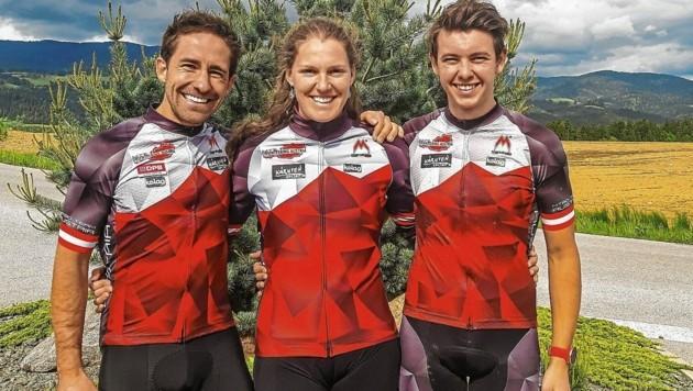 Finden immer ihren Weg ins Ziel: Die Orientierungs-Asse Kevin Haselsberger, Marina Reiner und Georg Koffler (Bild: zVg)