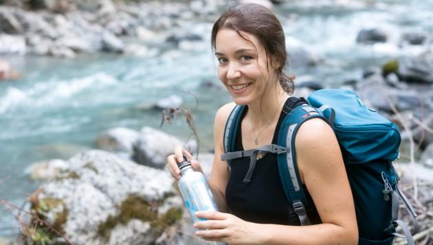 """Rubina Bergauer erkundet für die """"Krone"""" die schönsten Wanderrouten im Ländle. (Bild: Mathis Fotografie)"""