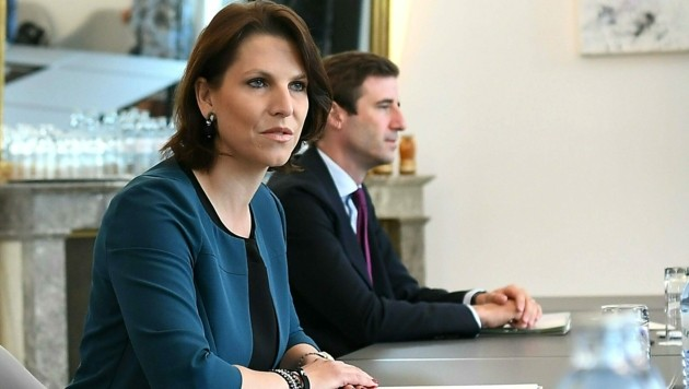 Kanzleramtsministerin Karoline Edtstadler (ÖVP) denkt laut über eine Einführung der Sicherungshaft für straffällig gewordene Asylwerber nach. (Bild: APA/Helmut Fohringer)